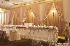 The longest Sweetheart Table I've ever seen...fantastic!  | Wedding Decor Toronto