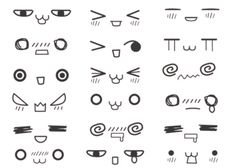 Anime faces this is amazing!! I'm gonna start using them when I write notes to people!:D