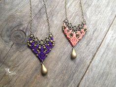 Micro macrame necklace custom order macrame por creationsmariposa, $27,00