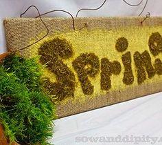 10 DIY Home Decor Tricks: First Sign of Spring