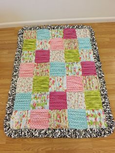 Ruffled Patchwork Blanket---MADE to ORDER---Toddler Blanket---You choose the fabric--. $159.00, via Etsy.