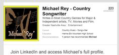 https://www.linkedin.com/profile/preview?vpa=pub&locale= … It's what I do~>http://bit.ly/MichaelRey
