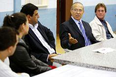 Eliseu Padilha em reunião no Diretório Muinicipal de Guaiba