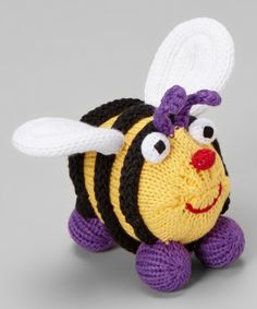 This Zubels Yellow & Black Elizabeth Bee Plush Toy by Zubels is perfect! #zulilyfinds
