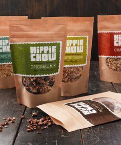 Hippie Chow Granola Packaging and Branding by Joe Wilper, via Behance