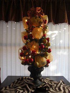 No Place Like Our Home: Christmas Powder Room & Hutch