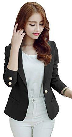 Kwok Womens Long Sleeve Floral Slim Blazer Suit Jacket Coat Outwear XL >>> Want to know more, click on the image.