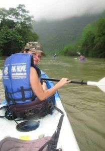 Kayaking in Laos was such an awesome experience. Ofcourse I flipped my kayak and got outta breath on more than one occasion since I can barely hold a paddle - lol