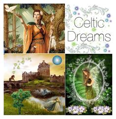 """Celtic dream"" by brooklynjadetoni ❤ liked on Polyvore featuring art"