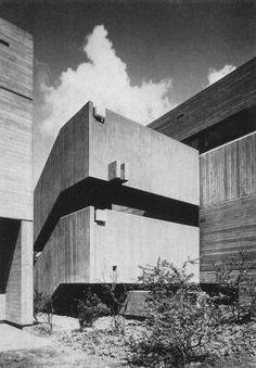 Brutalism - Archiepiscopal Secondary School, Beuel, Germany, 1964, Joachim Schurmann