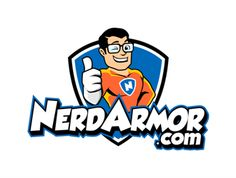 Nerd Armor logo design by Start your own logo design contest and get amazing custom logos submitted by our logo designers from all over the world. Professional Logo Design, Logo Design Contest, Custom Logos, Bart Simpson, Design Projects, Nerd, Geek Stuff, Disney Characters, Geek Things