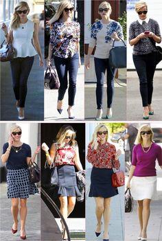 Em maio, fiz um post sobre o estilo adoravelmente básico e legitimamente inspirador da atriz Reese Witherspoon (se não leu, vale ver aqui), tudo porque a atriz andava de um lado pro outro com looks mais formais, na pegada working girl que inspira qualquer uma que precise de looks mais, digamos, certinhos pra trabalhar (a maioria). Pra onde …
