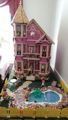 Marx Doll House Swimming Pool Swimming Pools Doll Houses And Dollhouses