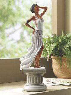 Diva White Figurine from Midnight Velvet.  by artist Keith Conner.