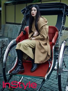 Jung Eun Chae in InStyle Korea October 2015