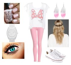 """""""#205"""" by gabriela-correia ❤ liked on Polyvore featuring Bardot, Converse, OPI, River Island, adidas Originals and Free People"""