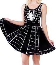 Sexy girl dress 2015 Summer Style Women Dress Digital Print Black Spider Dresses Sleeveless Hot Beach DRESS Drop Ship(China (Mainland))