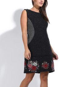 Look what I found on #zulily! Black Georgia Wool-Blend Dress #zulilyfinds