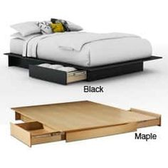 Contemporary Storage Platform Bed | Overstock.com Shopping - The Best Deals on Beds