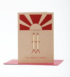 La carte de voeux de Match parfait / / Engagement / / joyeux anniversaire