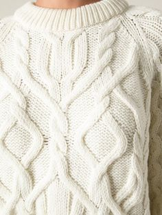 Купить McQ Alexander McQueen cable knit sweater.