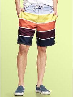 .Gap | Wide striped board shorts