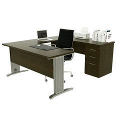 Linea IPSO. Modelo semi-ejecutivo. Medidas 1.60x2.00x.75. Incluye pedestal de 3 cajones.