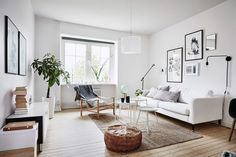 Bright Scandinavian living room