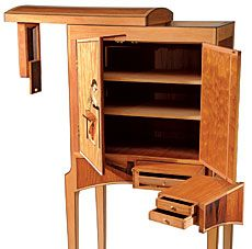 Secret Compartment Furniture - My Easy Woodworking Plans Folding Furniture, Woodworking Furniture, Fine Woodworking, Home Furniture, Furniture Design, Woodworking Projects, Hidden Spaces, Hidden Rooms, Secret Storage