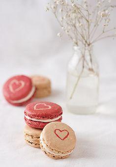 valentines macarons by Tartelette.