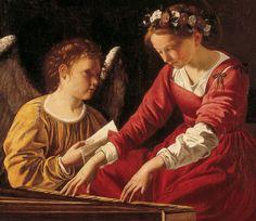 GENTILESHI Orazio Lomi - Italian (Pisa 1563–1639 London) - St. Cecilia patrones of music