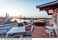 Cotton Sail Hotel Top Deck Savannah Georgia 31 Aug 2017 Savanna