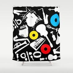 Treble Clef Sheet Music Notes Shower Curtain Bathroom Decor Fabric Kids Bath Window Curtains Panels Valance Bathmat And