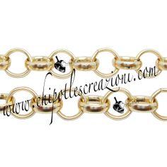 Catena Alluminio Rollò Color Oro, Rolo Aluminum Chain Gold Colour