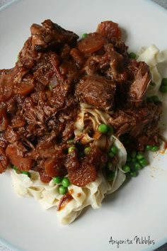 Crock Pot Lamb Shanks with rich sauce and homemade pappardelle