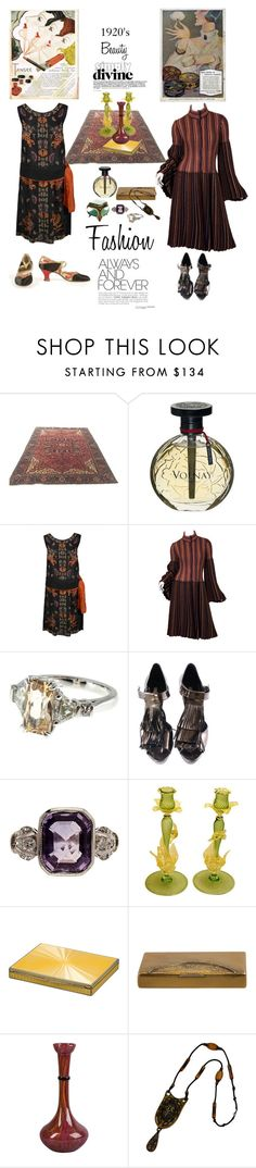 """Beauty Fashion Of 1920's Forever"" by lolly-p ❤ liked on Polyvore featuring Volnay, Missoni and Pura López"
