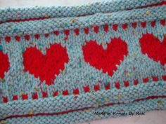 Ring Of Hearts Knitted Headband/Earwarmer from Made In Kansas By Rosi... on Facebook