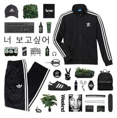 The Zone by discxnnect-ed on Polyvore featuring polyvore, fashion, style, adidas, adidas Originals, Elizabeth and James, Topshop, Hershesons, NARS Cosmetics, Sisley Paris, T3, Lux-Art Silks, OXO, Zoo York, Jura, bathroom and 183