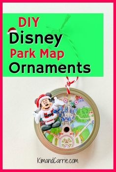 Disney Christmas Craft - Perfect for a Disney Christmas tree! Remember your magical vacation with this easy DIY Disney park map Christmas ornament. So easy that the kids can help craft this holiday decoration. Disney Christmas Crafts, Disney Crafts, Christmas Diy, Christmas 2019, Halloween Crafts, Holiday Crafts, Holiday Ideas, Holiday Decor, Disney Park Maps