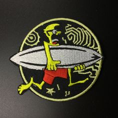 Surfing Patch Skateboard Iron on Applique Embroidered Iron On Patch sew on patch Cartoon Sport Patch