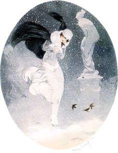 Louis Icart - Snowstorm (1925)