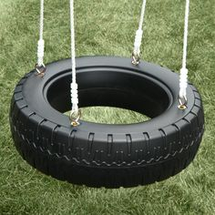 Remember the tire swing you grew up with, now your kids can enjoy this sturdy tire swing. The Swing-N-Slide Tire Swing features a large plastic tire base with four sturdy ropes. The tire swing can be attached to basic swing hangers or a heavy duty swivel for even more spinning and twisting fun, both sold separately. The tire is designed to accommodate multiple children so your kids can have hours of swinging fun with their friends.