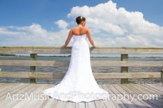Victoria just before her wedding, at Tale of the Whale restaurant, Outer Banks, NC