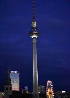 Berlin TV tower Germany - Berliner Fernsehturm Deutschland