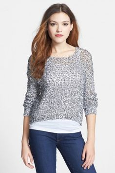 RD Style Crop Open Stitch Sweater $9.00