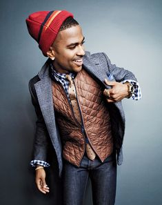 Big Sean in a great suit & quilted vest, for GQ Magazine | #MensFashion