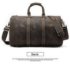 07c9a0534409 Genuine Leather Travel Bag For Men Large Capacity 100% Leather Stylish  Weekend Bag Men s Luggage Bag For Travel - Black or Brown