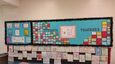 Students write notes to other students and teachers. Then teachers also write notes to each other. Its a great morale booster as well. Counseling Bulletin Boards, Morale Boosters, Write Notes, We Are Teachers, Students, Writing, Being A Writer