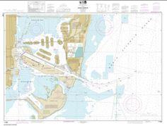 Buy map: Miami Harbor Nautical Chart (11468) by NOAA – YellowMaps Map Store