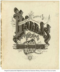 Sanborn Insurance map - Texas - DALLAS - 1899
